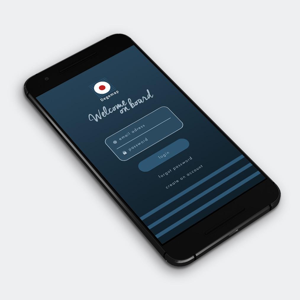 design app mobile degemap
