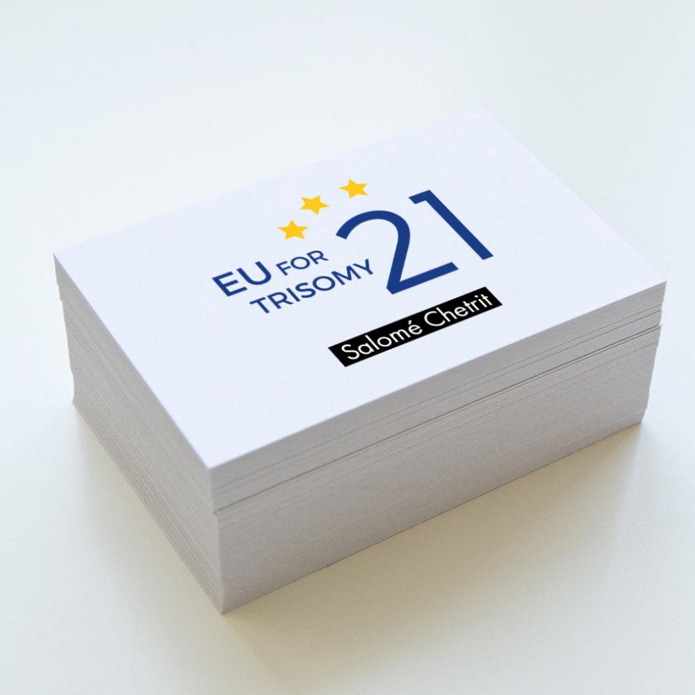 logo graphique eu for trisomy 21