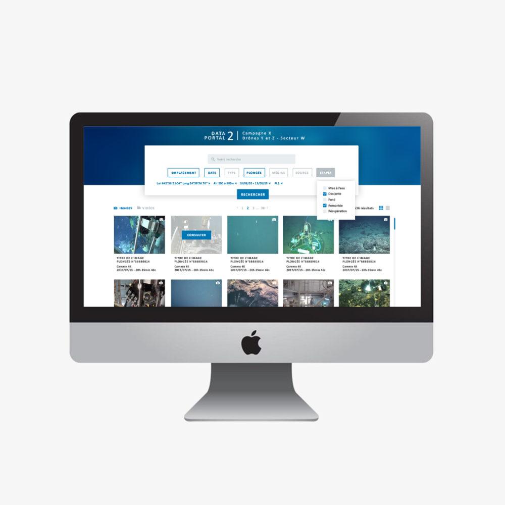 webdesign data sous marin